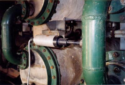 Зевсоник В-2 на теплообменнике производства спирта. Взрывоопасное помещение.