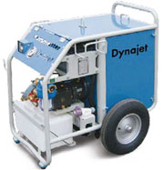 Гидродинамические машины Dynajet, давление 150-500 бар с дизельным двигателем